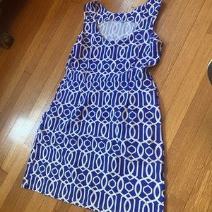 Jude Connally beautiful print dress!